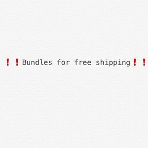Bundles for free shipping ❗️❗️❗️❗️